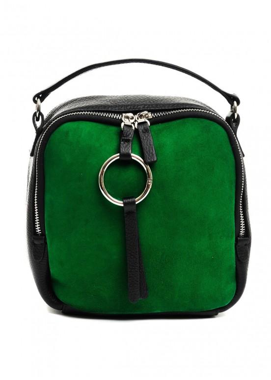 98902 Зеленая кожаная сумка