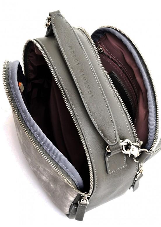 98903 Серая кожаная сумка