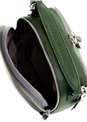98904 Кожаная сумка цвета хаки