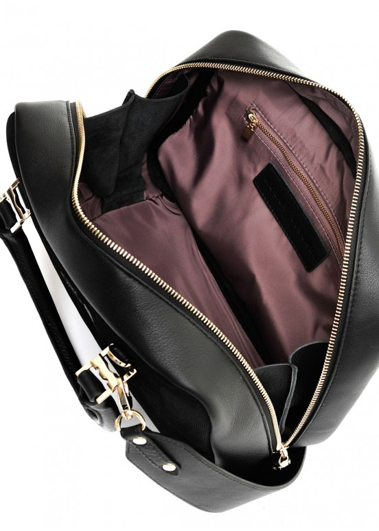 99301 Замшевая черная сумка