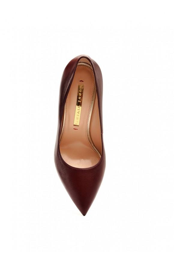 158001 Бордовые кожаные туфли