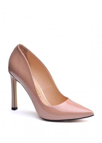 158051 Лаковые бежевые туфли