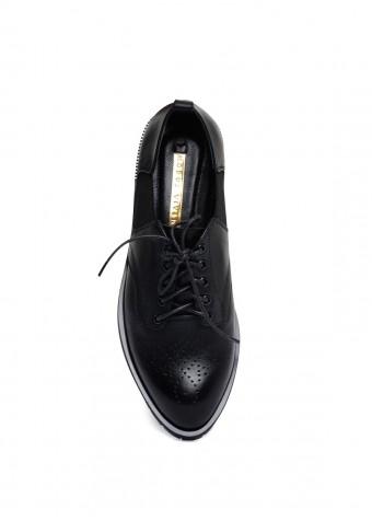 250101 Шкіряні туфлі низький хід