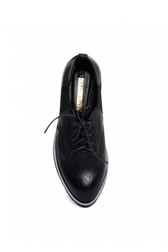 250101 Кожаные туфли низкий ход