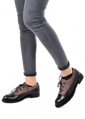 250201 Шкіряні туфлі низький хід
