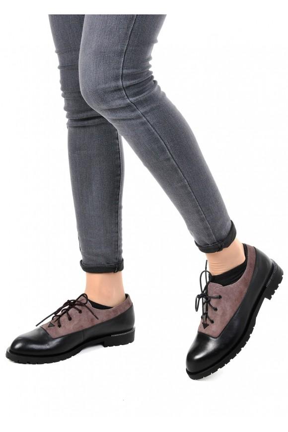 250201 Кожаные туфли низкий ход