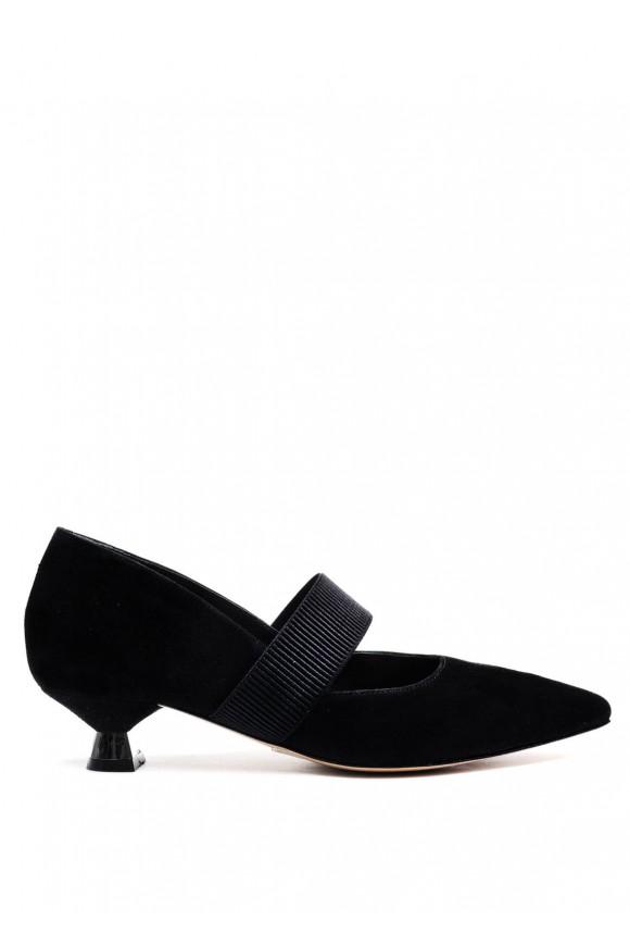 307401 Черные замшевые туфли