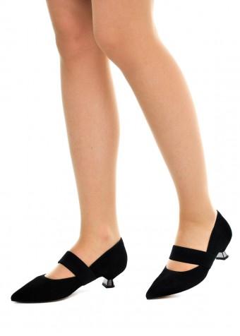 307401 Чорні замшеві туфлі