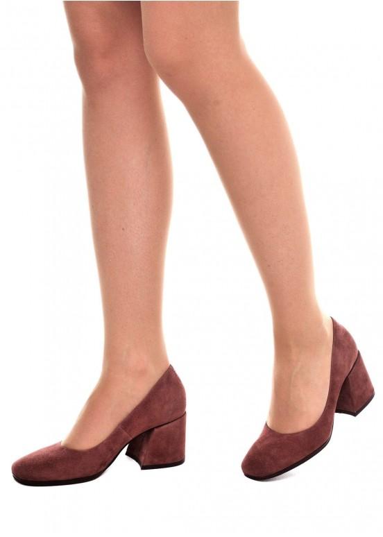 631802 Бежевые замшевые туфли
