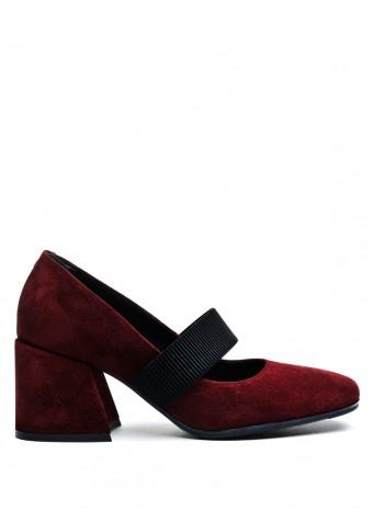 631902 Замшевые бордовые туфли