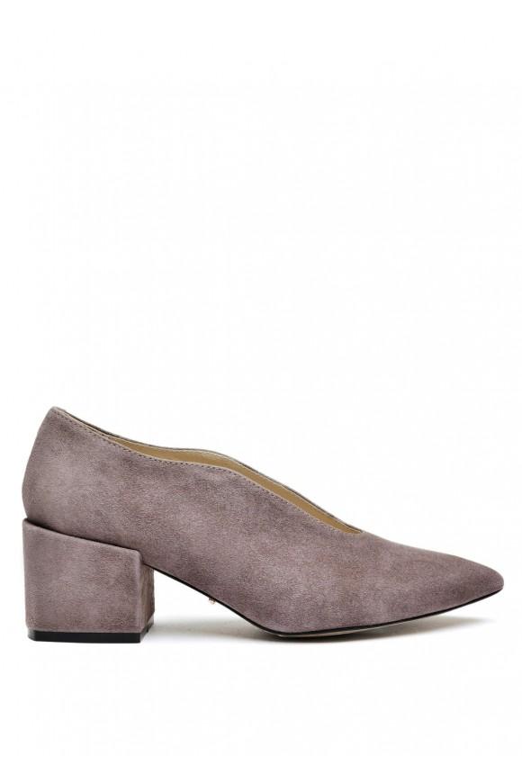 717404 Сірі замшеві туфлі
