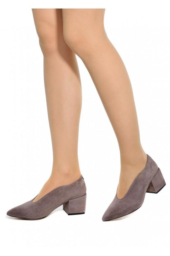 717404 Серые замшевые туфли