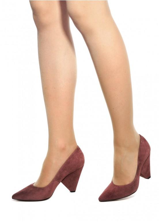 721804 Замшевые туфли с клиновидным каблуком