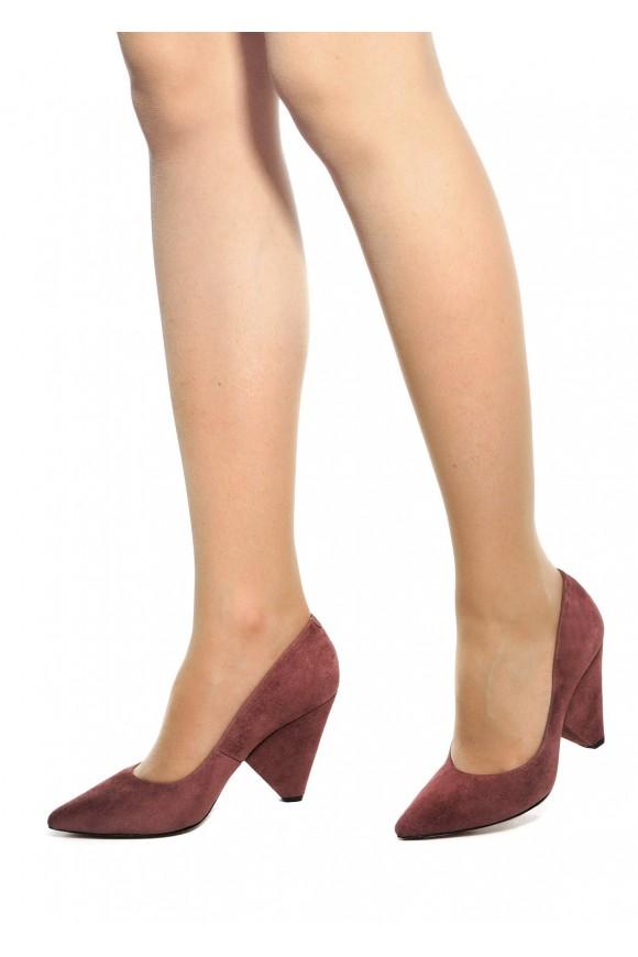 Замшевые Туфли с Клиновидным Каблуком Цвета Какао