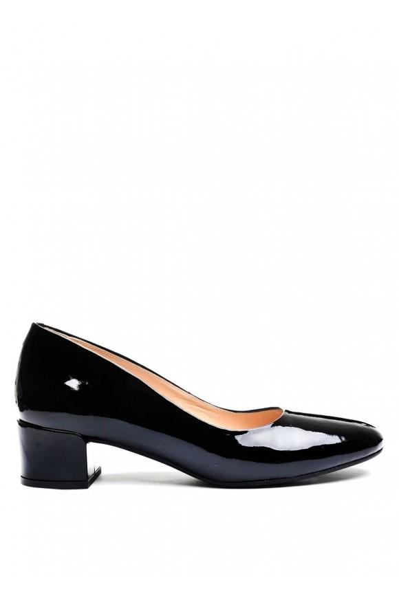 Кожаные Лаковые Туфли Черные