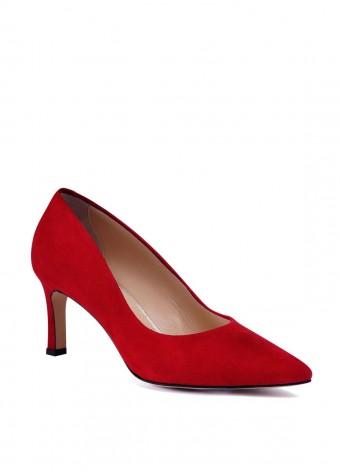 973333 Красные замшевые туфли