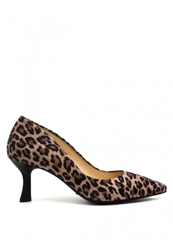 973394 Леопардовые туфли кожаные