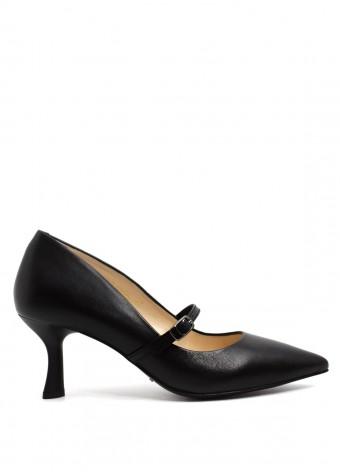 973804 Чорні шкіряні туфлі