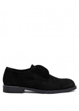 250501 Туфли замшевые черные