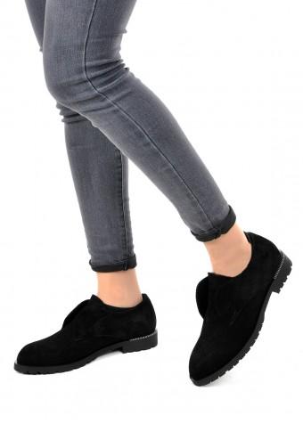 250501 Туфлі замшеві чорні