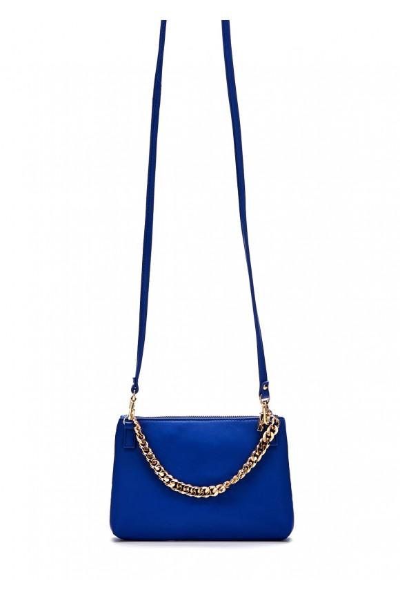 41006 Кожаная синяя сумка