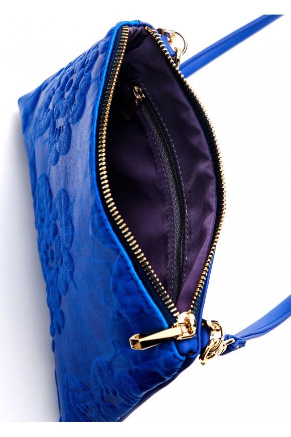 41006 Шкіряна синя сумка
