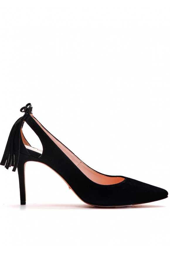 721611 Черные замшевые туфли