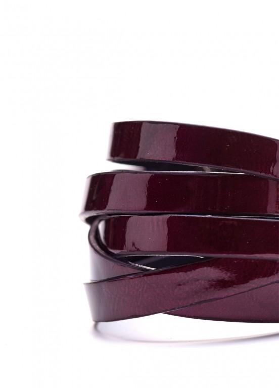 77718 Лаковый бордовый браслет