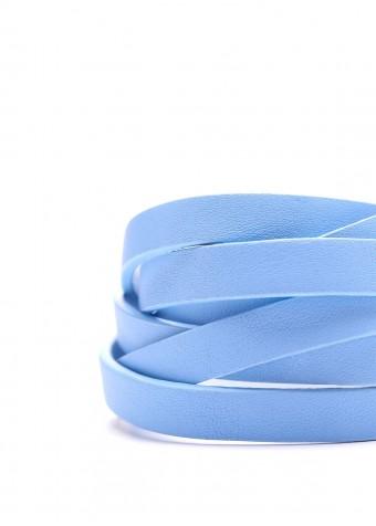 77720 Голубой кожаный браслет