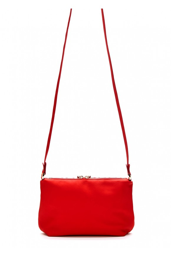 82604 Кожаная сумка с принтом