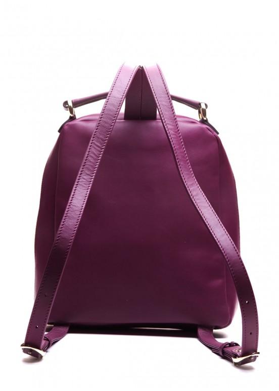 82702 Кожаный лиловый рюкзак