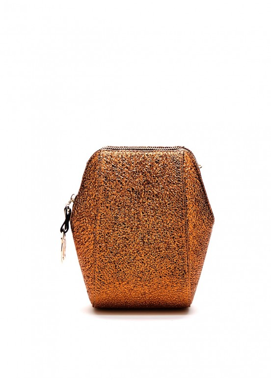 82906 Золотая кожаная сумка