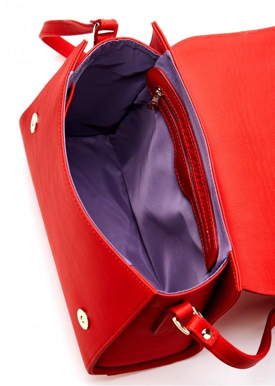 86102 Красная кожаная сумка