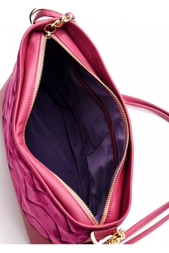 87901 Лиловая кожаная сумка