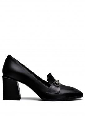 066122 Туфли из натуральной  кожи с квадратным носком