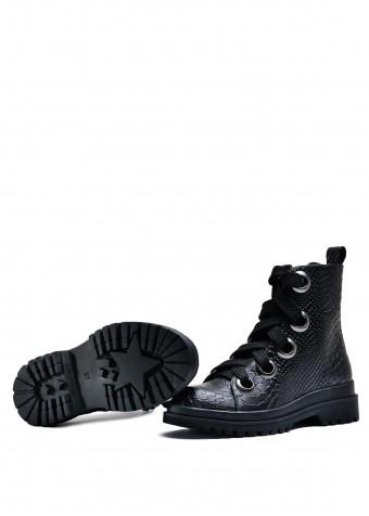 034923 Кожаные ботинки на шнурках