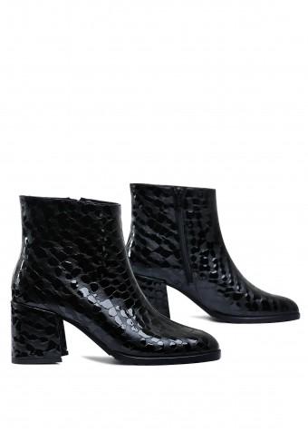 177403 Шкіряні черевики а середньому каблуці