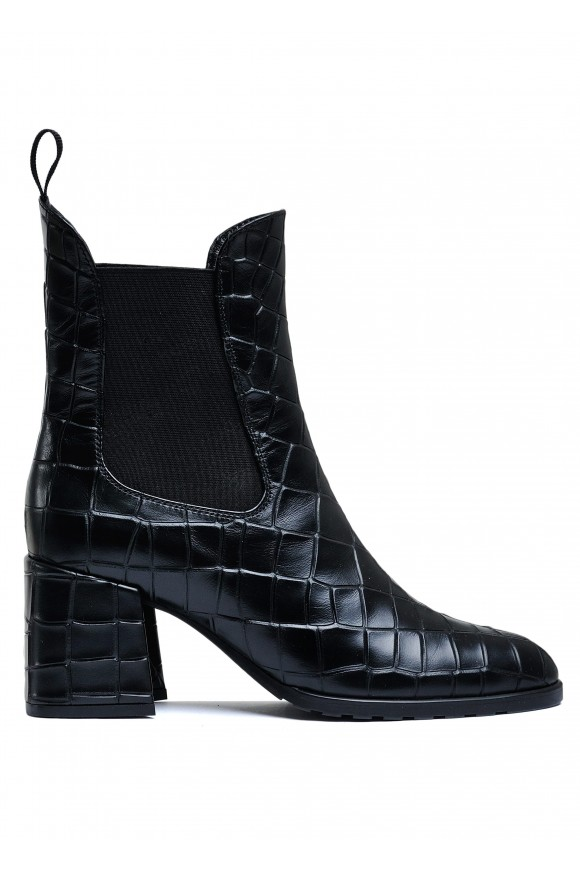 177503 Кожаные челси на каблуке
