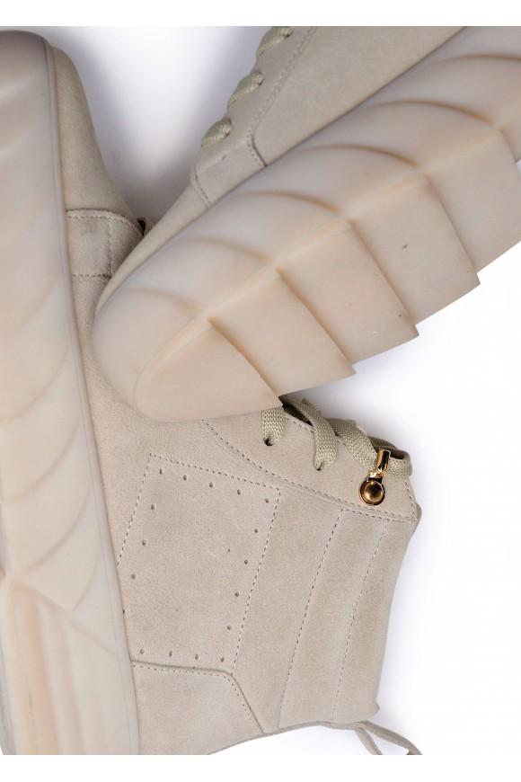 263301 Удобные ботинки из натуральной замши