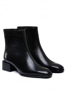 452511 Чёрные кожаные ботинки