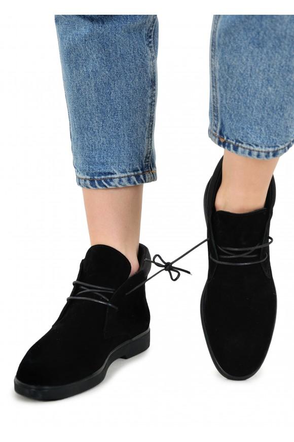 505903 Чёрные замшевые ботинки