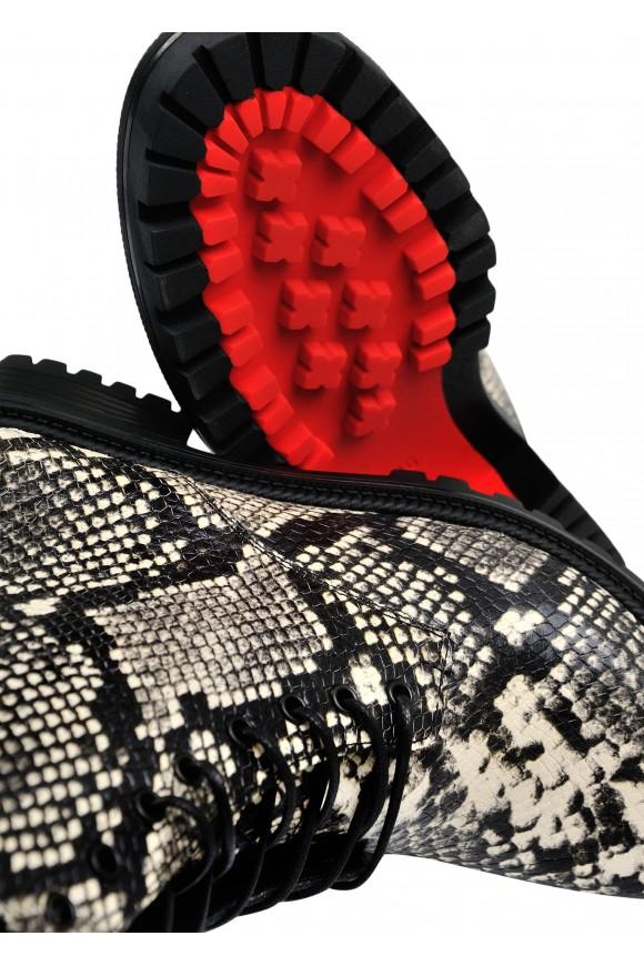 533356 Ботинки из натуральной кожи под питона
