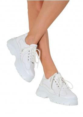 569134 Білі шкіряні кросівки