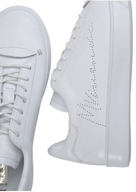911403 Белые кеды из натуральной кожи