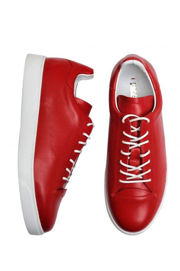 911463 Красные кожаные кеды