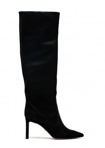 146041 Елегантні чоботи на стійкому каблуці