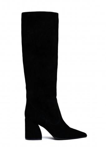 146052 Чёрные замшевые сапоги