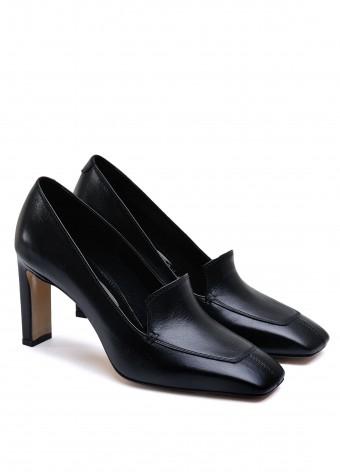 066001  Кожаные туфли с квадратным носком