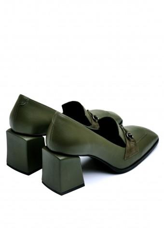 066112 Туфли из натуральной  кожи с квадратным носком