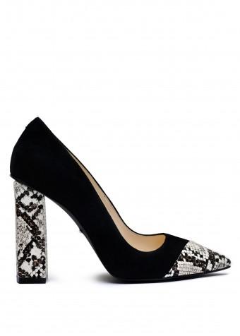 158512 Комбіновані туфлі на високих підборах